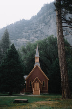 Vintage Church In Forest