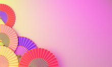 Colorful Chinese Paper Fan Umb...