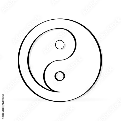 Sign of Chinese philosophy of the symbol of Confucianism Fototapet