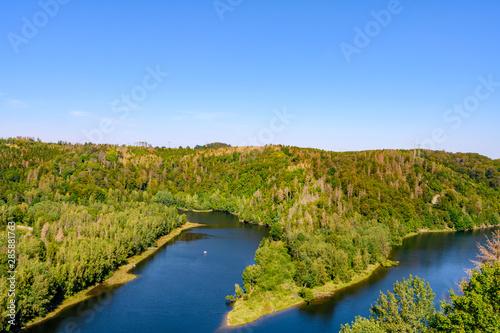 Staande foto Rivier Rappbode Talsperrre im Harz, See in Sachsen Anhalt