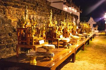 Fototapeta na wymiar A beautiful view of buddhist temple in Sukhothai, Thailand