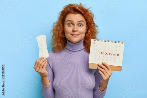 Fotografia Monthly woman menstruation control concept