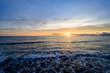 波津海岸から眺める朝日