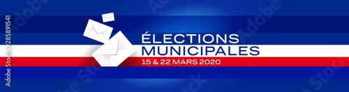 Canvastavla Elections municipales françaises / 15 et 22 mars 2020