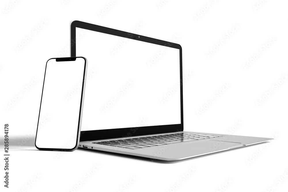 Fototapeta Isolated Devices Mockup