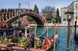 idylle an der ponte dell accademia in venedig, italien