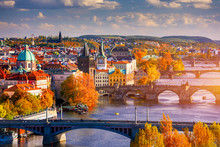 Autumn View To Charles Bridge ...