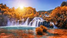 Krka National Park With Autumn...