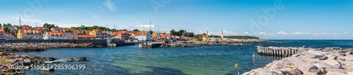 Panorama of Allinge Waterfront, Bornholm, Denmark Wallpaper Mural