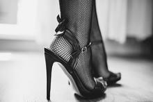 Sexy Woman Legs In High Heel S...
