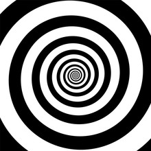 Spiral Illusion Black And Whit...