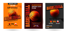 Set Of Basketball Posters With...