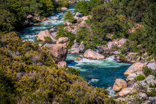 Mountain River With Rapids In ...