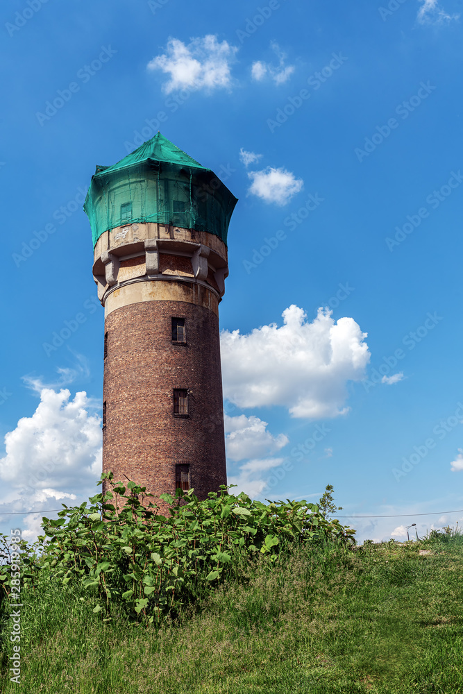 Old water tower in Katowice, Poland
