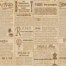Old Newspaper French Seamless ...