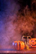 Halloween Concept, Orange Pump...