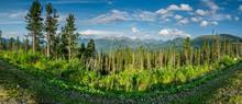 Panoramic View On Ergaki Mount...