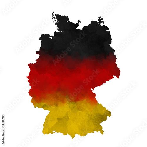 Watercolor map Germany Wallpaper Mural