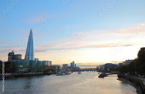 London downtown and River Thames cityscape London England Wallpaper Mural