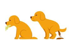 Cartoon Dog Vomiting And Diarrhea