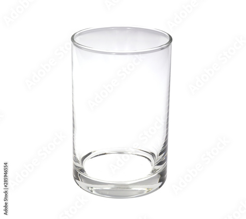 Fotografie, Obraz  Empty, glass clear for water or juice isolated on white background