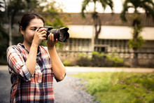 Woman Photographer Is Taking I...