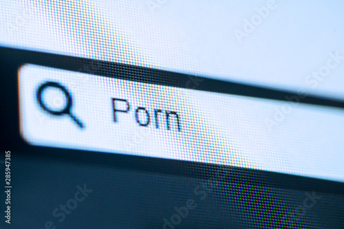 Search bar with typed Porn word Wallpaper Mural