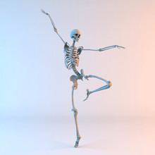 3D Illustration Of Happy Danci...