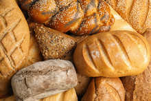 Fresh Breads And Pastry As Bac...