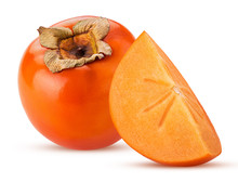 Persimmon Fruit And Quarter