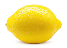 Whole Lemon Isolated On White ...