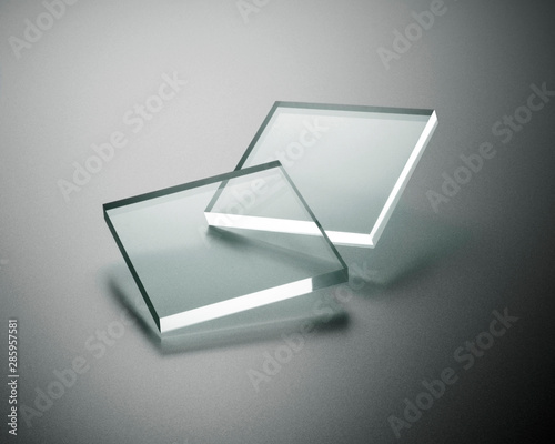 Transparency plate abstract Fototapet