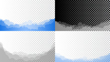 Set Of Clouds Of Different Col...