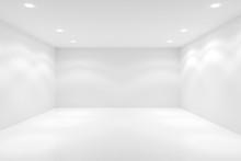 Empty White Room With Spotligh...