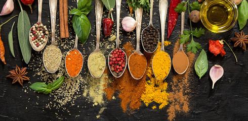 Panel Szklany Przyprawy Herbs and spices
