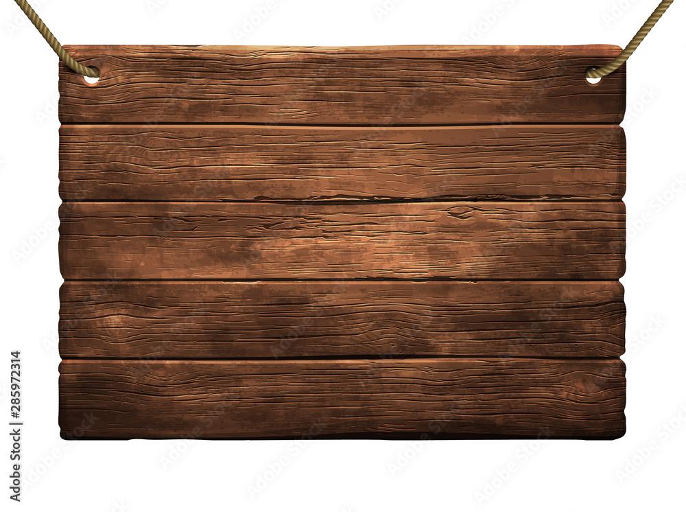 Fototapeta wooden shield background. High detailed illustration