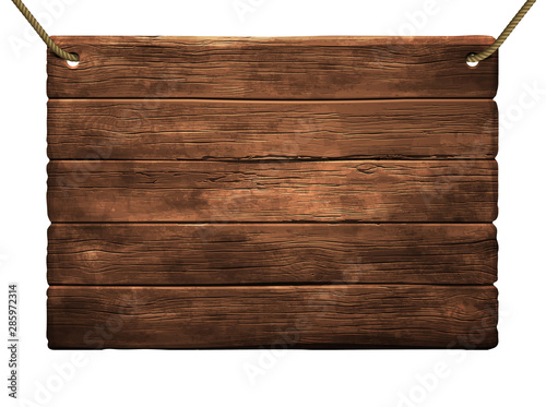 Fototapeta wooden shield background. High detailed illustration obraz