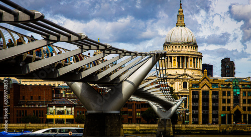 St Paul's Cathedral from the Millennium Bridge Canvas Print