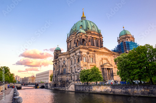 Fotobehang Berlijn Berlin Cathedral located on Museum Island in the Mitte borough of Berlin, Germany.
