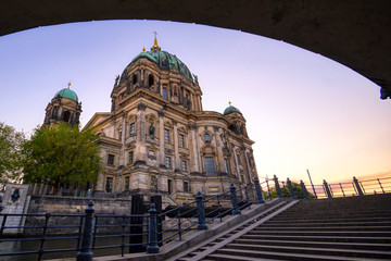 Fototapeta na wymiar Berlin Cathedral located on Museum Island in the Mitte borough of Berlin, Germany.