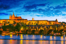 View Of Hradcany District With Prague Castle