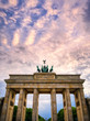 The Brandenburg Gate located in Pariser Platz in the city of Berlin, Germany.