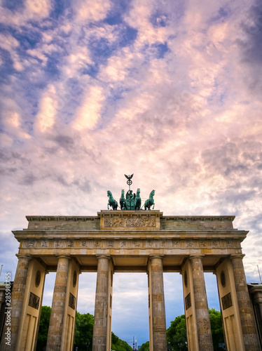 The Brandenburg Gate located in Pariser Platz in the city of Berlin, Germany Wallpaper Mural