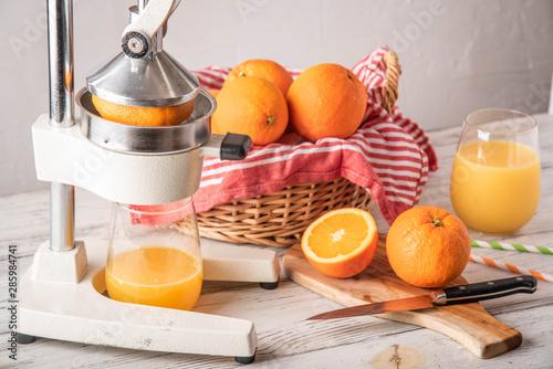 Obraz fresh squeezed orange juice image - fototapety do salonu