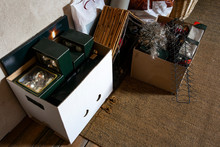 Christmas Stuff Stored In Boxe...
