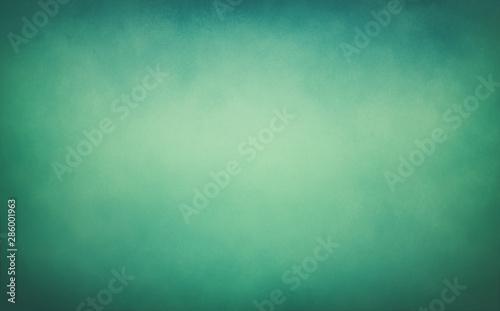 Canvastavla  blue green background texture, vintage paper with soft old blurred grunge border