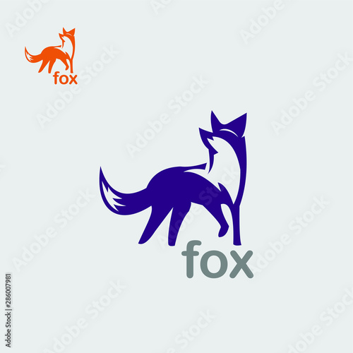 Photo simple fox logo for new company