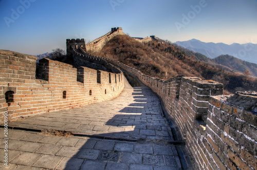 Photo sur Toile Muraille de Chine Great wall of china on a clear winter day