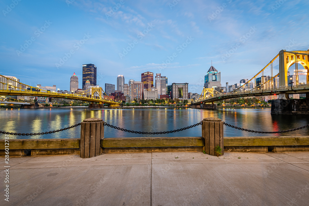 Fototapety, obrazy: Blue Hour from the Allegheny Landing