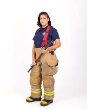 Female American Firefighter In...